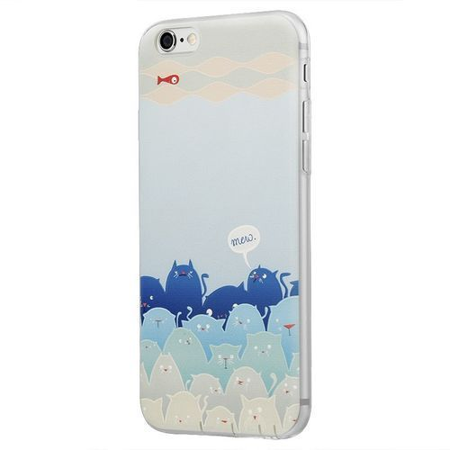 Benks Memo Series 3D TPU Apple iPhone 6/6s Plus Mololo Blue, kolor Benks