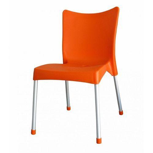 krzesło mp464 vita, pomarańczowe marki Mega plast