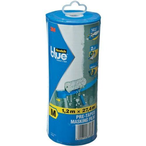 Folia ochronna 3M ScotchBlue™ 70006584208, (DxS) 27.4 m x 1.2 m, 27.4 m, 1 szt.