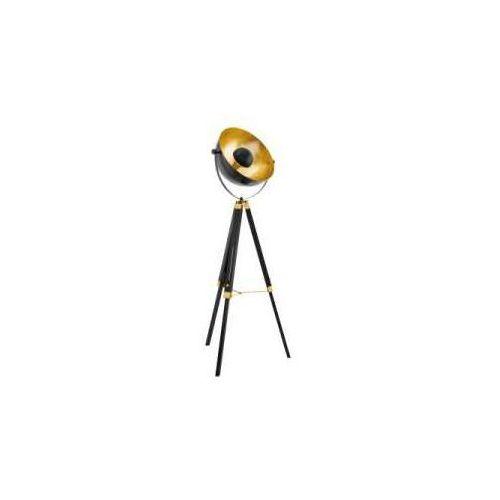 Eglo Lampa podłogowa covaleda 49618 oprawa stojąca 1x60w e27 czarna/złota
