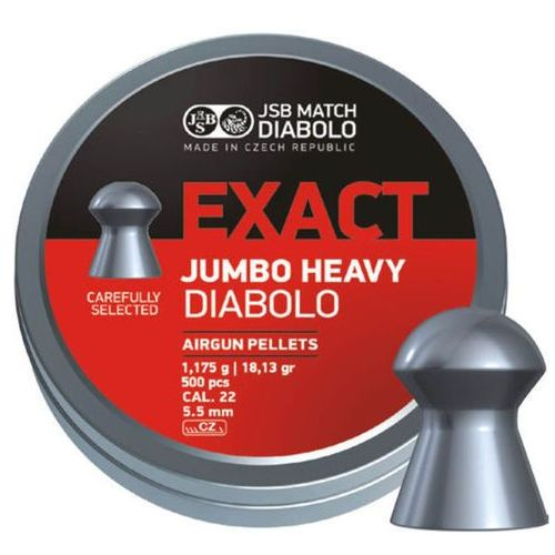 Śrut JSB Exact Jumbo Heavy 5.52mm 250szt (546287-250) z kategorii amunicja do wiatrówek
