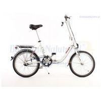 Aluminiowy rower składany SKŁADAK niska rama MIFA 3-biegi SHIMANO NEXUS biały - szczegóły w DostawaNaJutro.pl - sportowe...rowerowe...