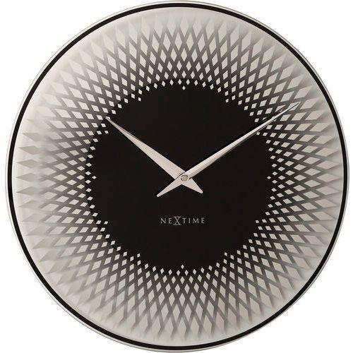 Nextime Zegar ścienny sahara 43 cm kolor srebrny (8186 zi)