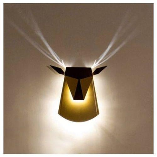Kinkiet JELEŃ czarny - LED, stal węglowa, JD8608.BLACK (12918771)