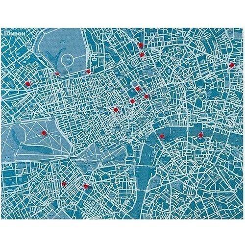 Dekoracja ścienna Pin City Londyn jasnoniebieska
