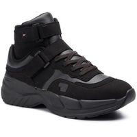 Sneakersy TOMMY HILFIGER - Lh Varsity Chunky Mid Sneaker FM0FM02521 Jet Black BAS, kolor czarny