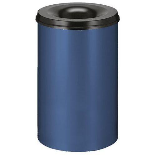 Vepa bins Kosz na papier, samogaszący, poj. 110 l, korpus niebieski / głowica gasząca czar