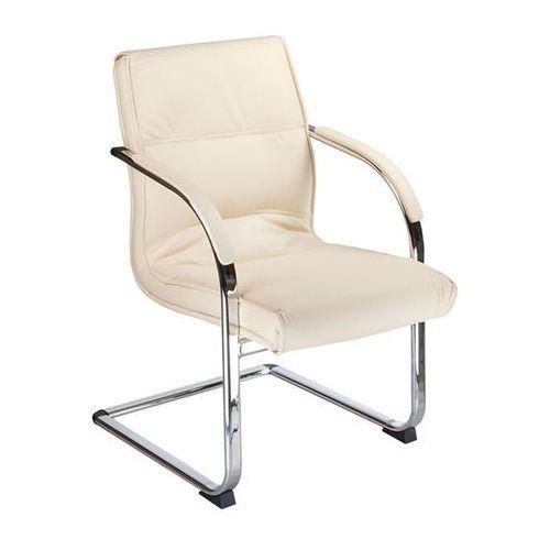 Fotel konferencyjny CorpoComfort BX-3346 Kremowy