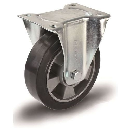 Elastyczne ogumienie pełne, czarne, Ø x szer. kółka 160x50 mm, rolka wsporcza. n marki Proroll