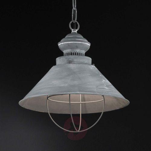 basket lampa wisząca siwy, 1-punktowy - nowoczesny - obszar wewnętrzny - basket - czas dostawy: od 6-10 dni roboczych marki Honsel