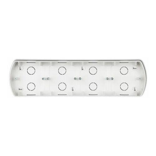 Karlik trend srebrny metalik - puszka natynkowa pozioma poczwórna - 7pth-4 (5908257115551)