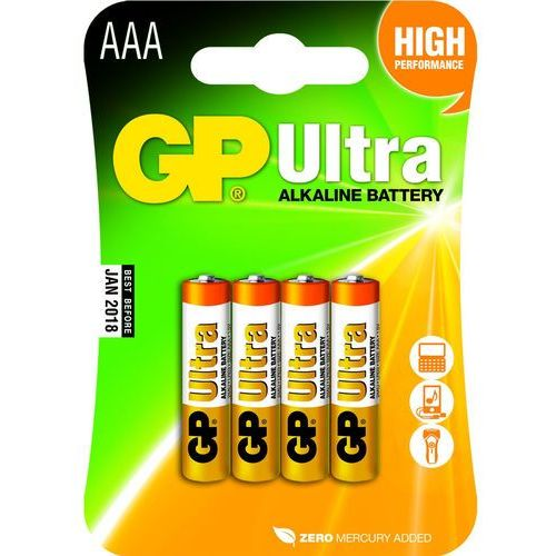 Gp batteries Gp bateria alkaliczna lr03 ultra alkaline bl/4