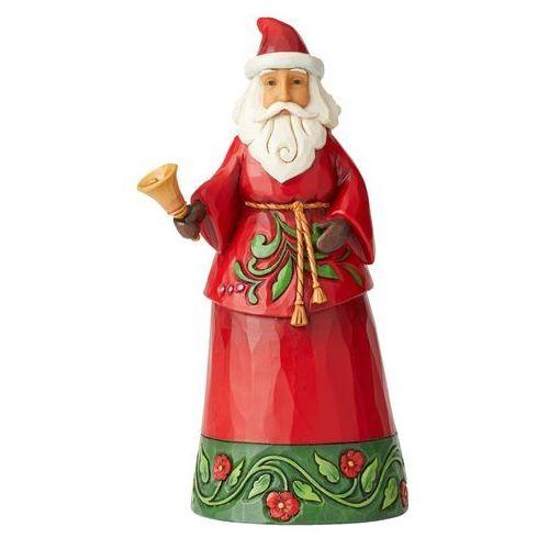 Jim shore Mikołaj z świątecznym dzwoneczkiem santa holding bell 6004138 figurka ozdoba świąteczna