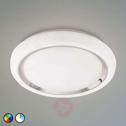 Plafon capasso-c 96686 lampa sufitowa 1x17w led biały/chrom marki Eglo