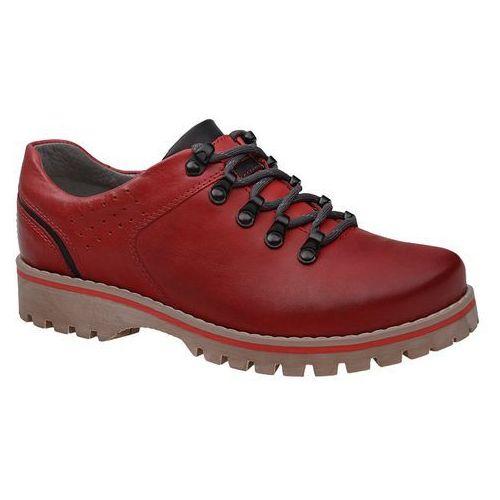 Półbuty buty trekkingowe 5330 czerwone - czerwony marki Kornecki