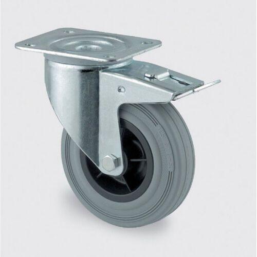 Koła przemysłowe z maksymalnym obciążeniem 70-205 kg, szara guma (4031582305340)
