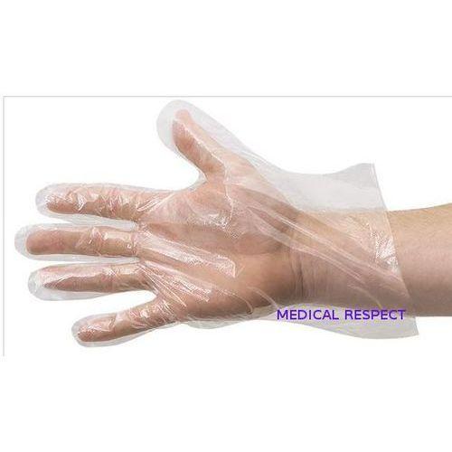 Rękawice foliowe HDPE Rozm. M a 100szt.