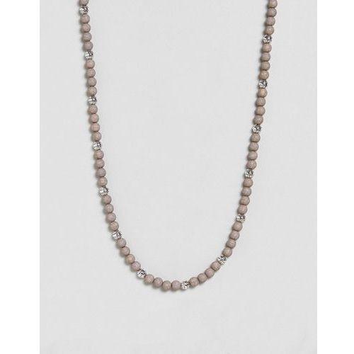 Icon Brand Grey Beaded Necklace In Grey Exclusive To ASOS - Grey, kolor szary