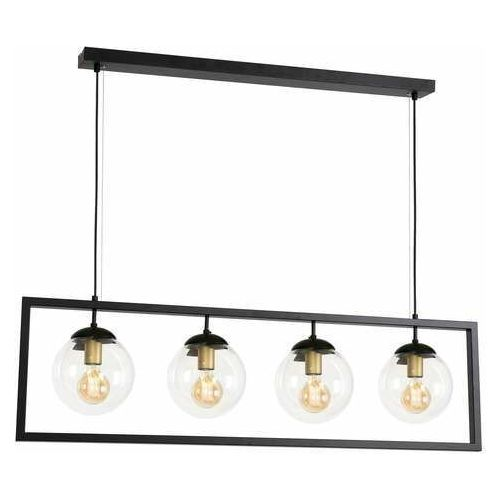 Luminex Rey 1436 lampa wisząca zwis 4x60W E27 czarna (5907565914368)