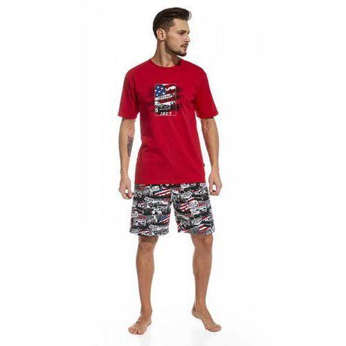 Piżama Męska Model America 326/47 Red/Black, kolor czerwony