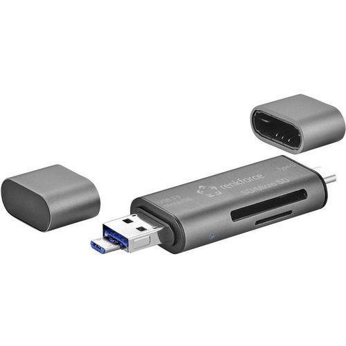 Czytnik kart pamięci usb, smartfon/tablet  cr50e, usb 3.0, usb-c™, microusb marki Renkforce
