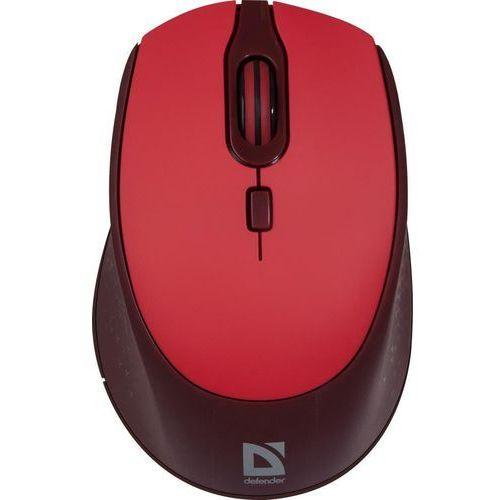 Mysz bezprzewodowa Defender GENESIS MB-795 optyczna 2400dpi 4P czerwona (4714033527972)