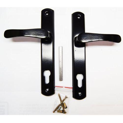 Klamka do drzwi na wkładkę czarny LOB (5905452118028)