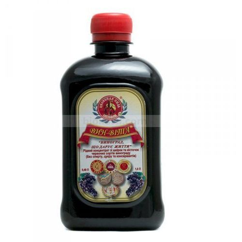 Remedium natura Vin-vita płynny koncentrat z ciemnych odmian winogron, 0,49 l, zdrowie i młodość (4820117330014)