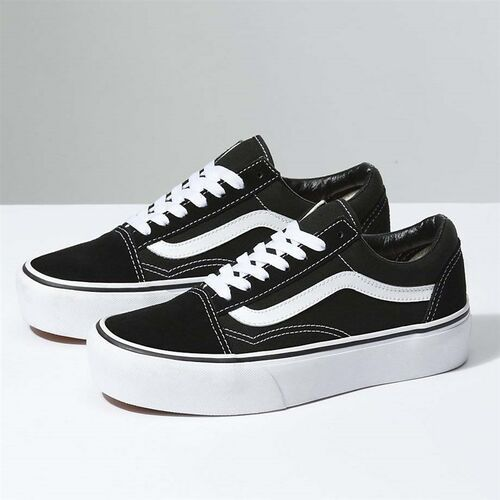 Buty - old skool platform black/white (y28), Vans