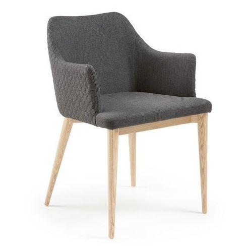 Krzesło erida z podłokietnikami ciemnoszare - ciemnoszary marki 9design