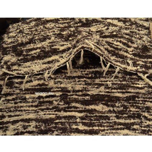 Twórczyni ludowa Chodnik bawełniany, ręcznie tkany, brązowo-ecru 65x150