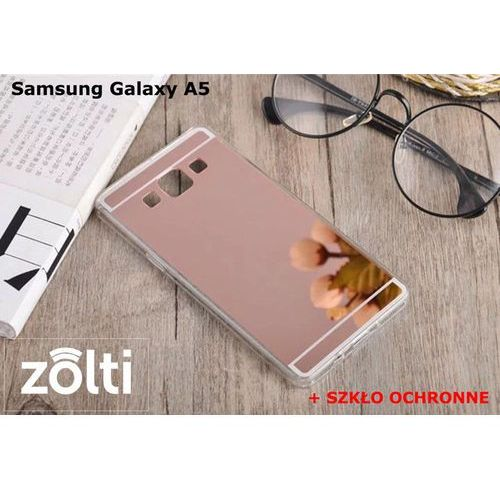 Zestaw   Slim Mirror Case Różowy + Szkło ochronne Perfect Glass   Etui dla Samsung Galaxy A5 - produkt z kategorii- Futerały i pokrowce do telefonów