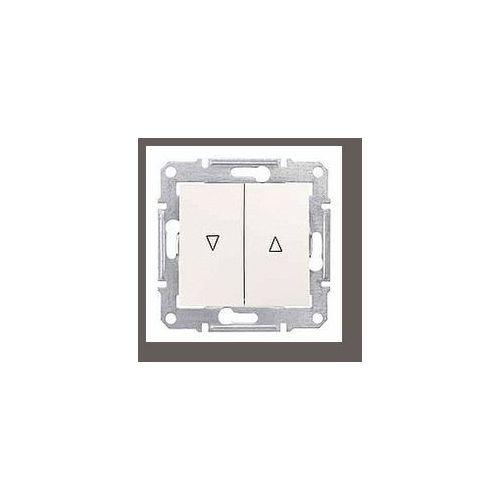 Schneider electric Sedna przycisk żaluzjowy 2-biegunowy z blokadą elektryczną 10a kremowy sdn1300123