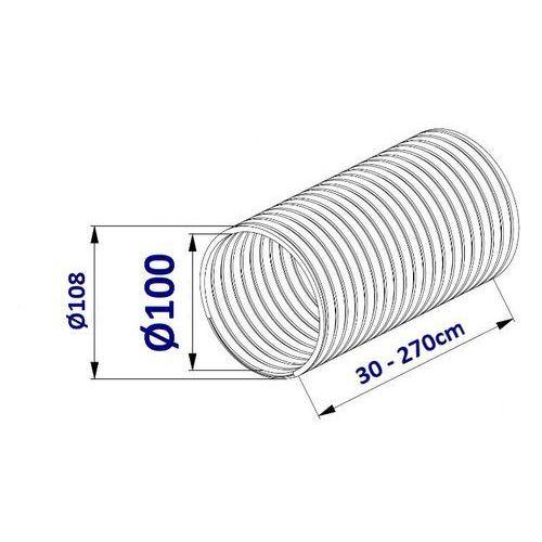 Przewód Elastyczny FLEX do Wentylacji 2,7m - 100; 125; 150mm Przewód Elastyczny FLEX 2,7m: 100