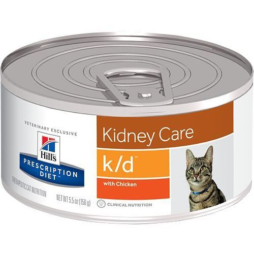 HILL'S PD Prescription Diet Feline k/d - puszka (pasztet) 6 x 156g kurczak