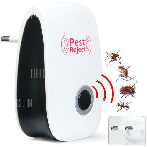 Ultrasonic Mouse Bug Pest Repeller Mosquito Insect Cockroach Electronic Rejector - EU Plug z kategorii Pozostałe