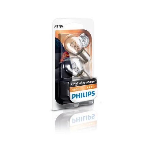 OKAZJA - Zestaw 2x żarówka samochodowa vision 12498b2 p21w ba15s/21w/12v marki Philips