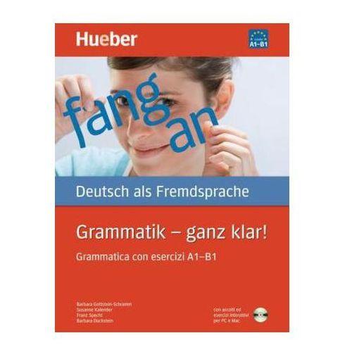Grammatik - ganz klar!,Grammatica con esercizi A1-B1 m. CD-ROM (9783190715558)