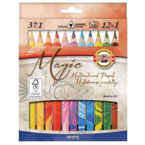Kredki 12 kolorów magic trio 12+1 od producenta Koh-i-noor