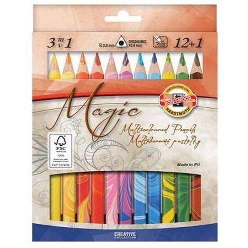 Kredki 12 kolorów Magic Trio 12+1 (8593539248606)
