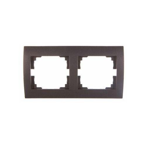 Kanlux logi 02-1470-041 grafit ramka podwójna pozioma 25295 (5905339252951)
