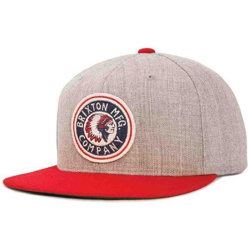 czapka z daszkiem BRIXTON - Rival Light Heather Grey/Red (0366) rozmiar: OS