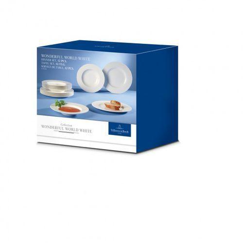 Villeroy&Boch Wondeful World Komplet talerzy 12szt. białe