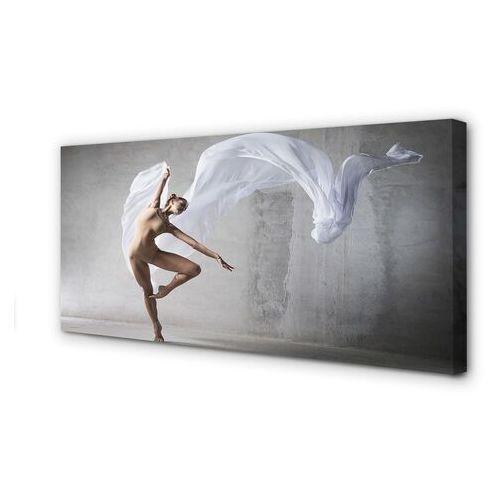 Obrazy na płótnie kobieta taniec biały materiał marki Tulup.pl