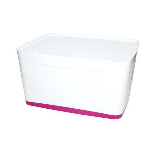 Pojemnik duży z pokrywką biało/różowy MyBox Leitz