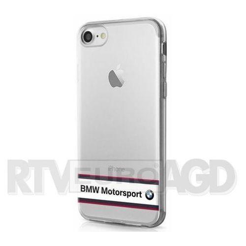 BMW Etui Hard do iPhone 7 białe-transparentne (BMHCP7TRHWH) Darmowy odbiór w 20 miastach!, kolor biały