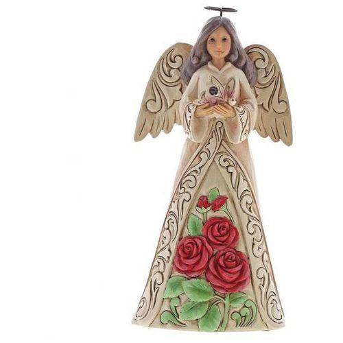 Jim shore Anioł czerwiec patron urodzonych w czerwcu monthly angel figurine june angel 6001567 , pamiątka narodzin, chrztu figurka dewocjonalia