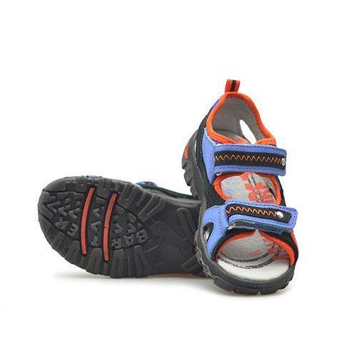 Sandały dziecięce Bartek 16113-9A Niebieskie/Pomarańczowe, kolor niebieski