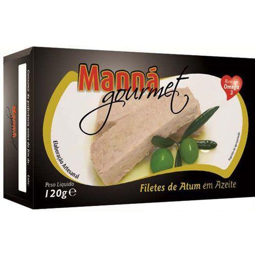 Portugalskie filety z tuńczyka w oliwie 120g Manná GOURMET (5601721411097)