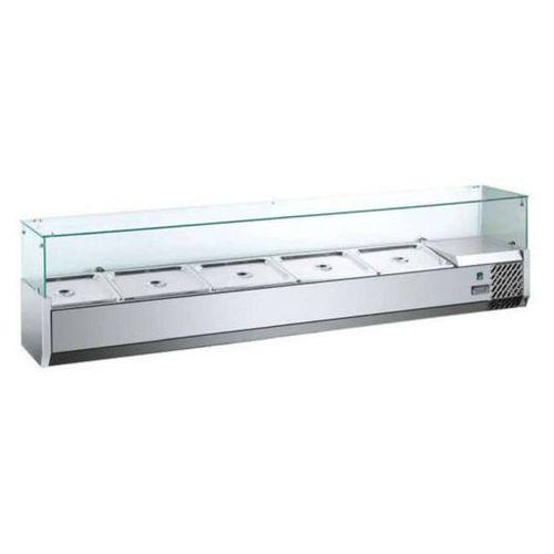 Witrynka chłodnicza nastawna 1600 mm | 1500x335x(H)435mm